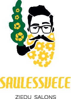 Saulessvece, ziedu salons, floristika Mežciemā Logo