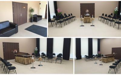 Valmieras krematorijas jauna, gaiša un silta atvadu zāle