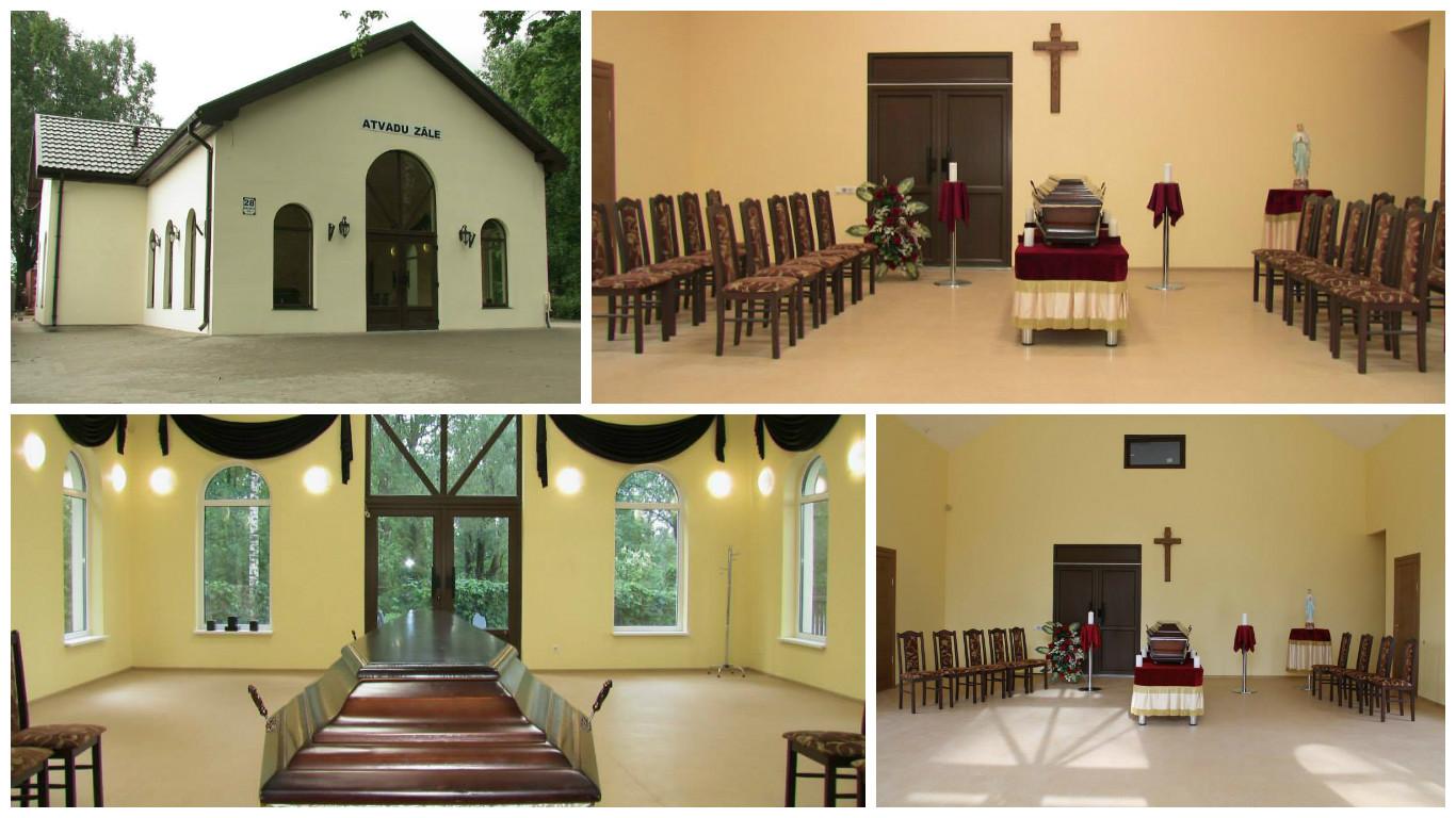 Jaunā Krematorija, Apbedīšanas nams, Atvadu zāle Rīgā