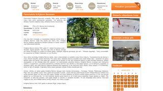Piemineklis Krišjānim Baronam webpage