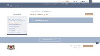 Rīgas 1. slimnīca. Morgs Mājaslapa