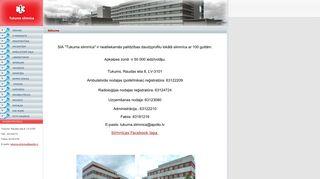 Tukuma slimnīca. Morgs webpage