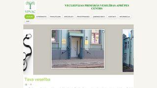 Vecliepājas primārās veselības aprūpes centrs.Morgs webpage