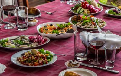 Galda klāšana Aleksandrs restorāns, Arcada, tirdzniecības centrs