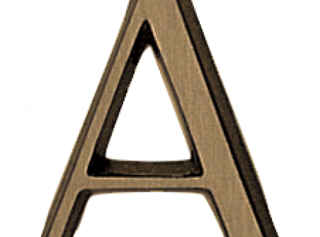 Bronze Romano letter 4 cm