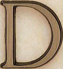 Bronze Romano letter 4 cm -