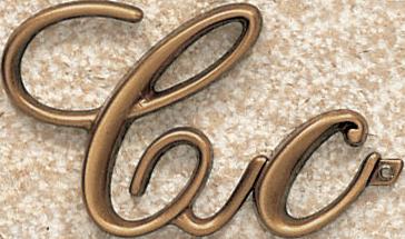 Bronze Corsivo letter 5.5 cm and 3cm 5.5 cm price 13.20 eur 3 cm price 7.80 eur -