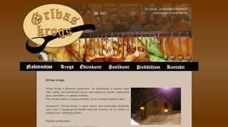 Kafejnīca Grīvas Krogs Mājaslapa