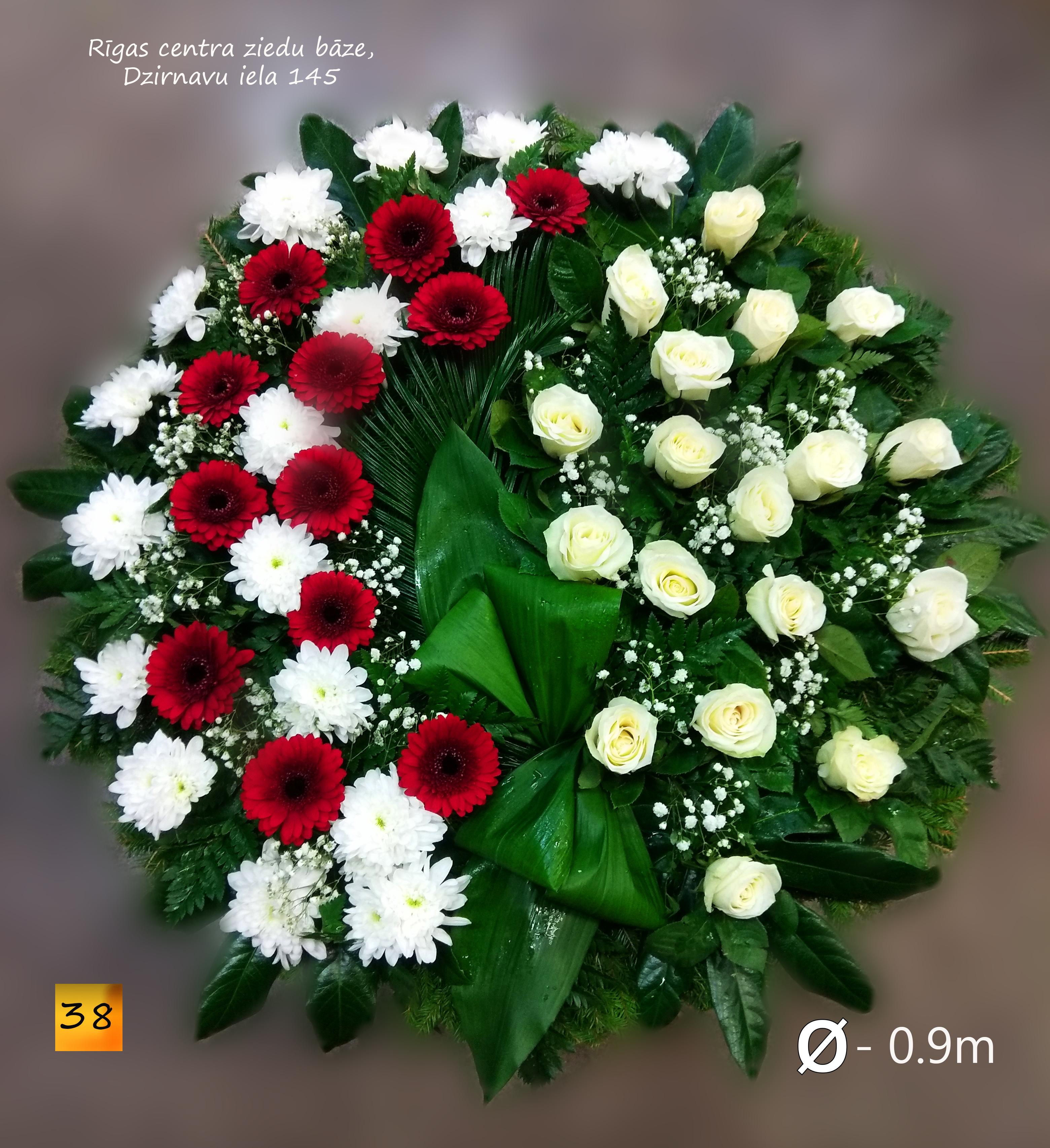 Bēru vainags ar svaigiem ziediem -