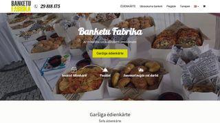 Banketu Fabrika, Izbraukuma banketi Homepage