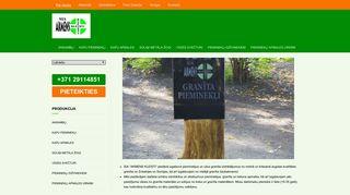 Akmens Kleisti SIA darbnīca Homepage