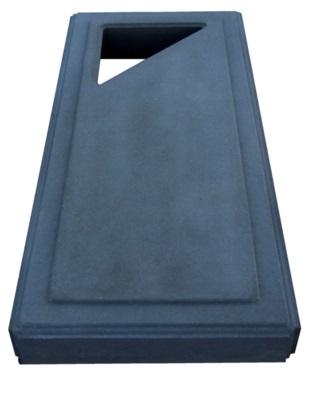 Kapu plāksne no betona -