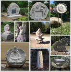 Skulptūru un pieminekļu darbnīca Ādažos, tēlnieks Ronalds Jaunzems
