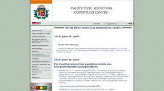 Valsts tiesu medicīnas ekspertīzes centrs webpage