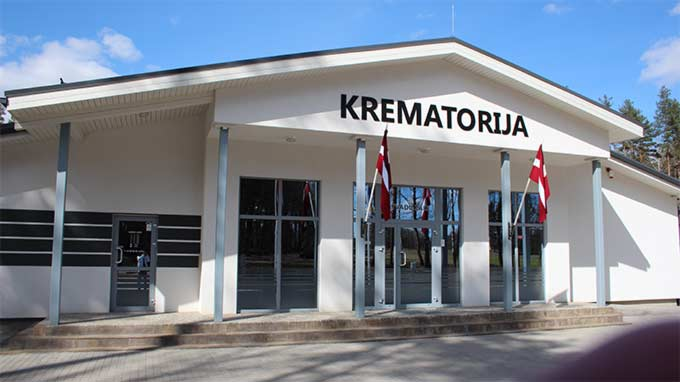 Apbedīšanas birojs, Apbedīšanas nams pārdaugavā, Krematorija