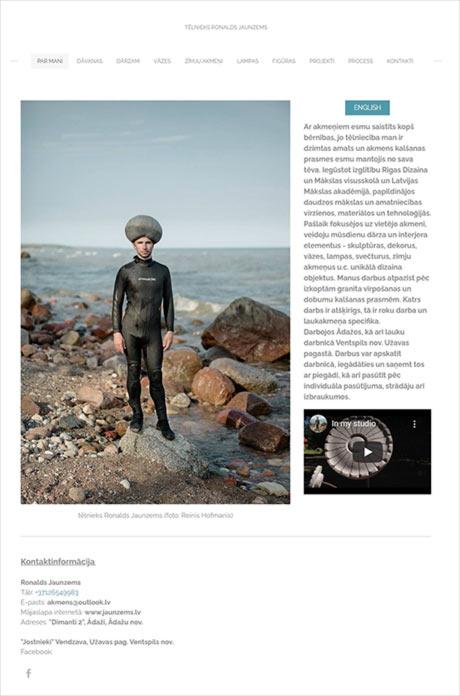Skulptūru un pieminekļu darbnīca Ādažos, tēlnieks Ronalds Jaunzems webpage