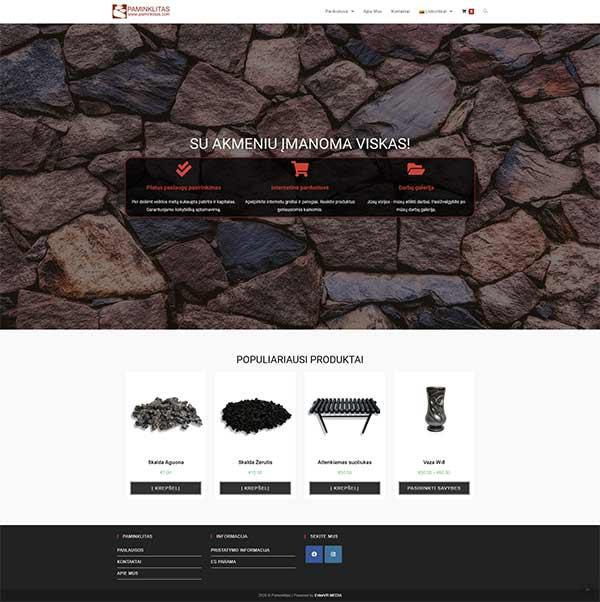 Paminklitas webpage