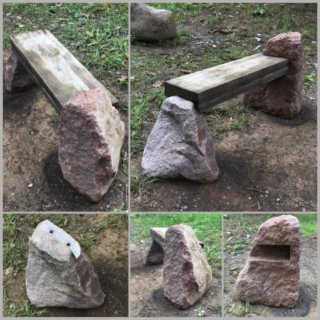 Kapu soliņš - koks un akmens