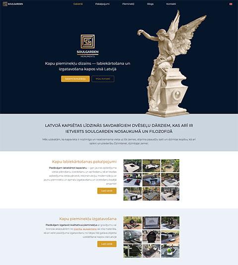 SoulGarden - Pieminekļu izgatavošana un labiekārtošana webpage