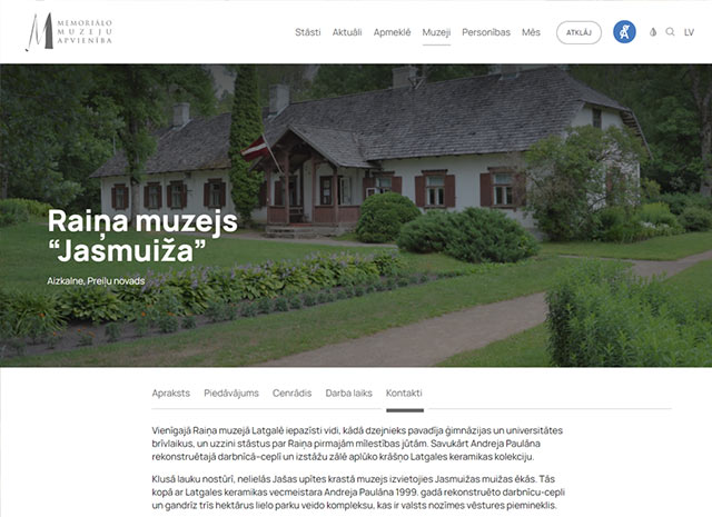Raiņa memoriālais muzejs - Jasmuiža Mājaslapa