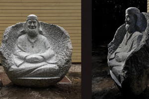 Latviešu tēlnieks kaļ pieminekli Nīderlandē