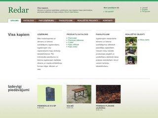 Redar SIA webpage