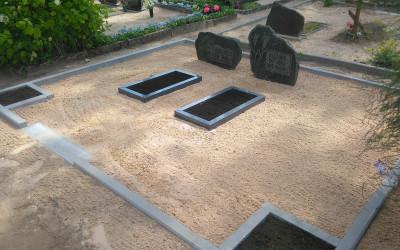 pieminekļi apmales , kapu iekārtošana