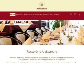 Aleksandrs restorāns, Arcada, tirdzniecības centrs Mājaslapa