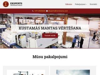 Eksperts webpage