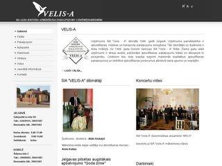Velis-A SIA Mājaslapa