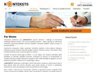 Konteksts SIA webpage