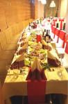 Bēru mielasts galda klāšana Aleksandrs restorāns, Centrs