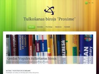Proxime, tulkošanas birojs webpage