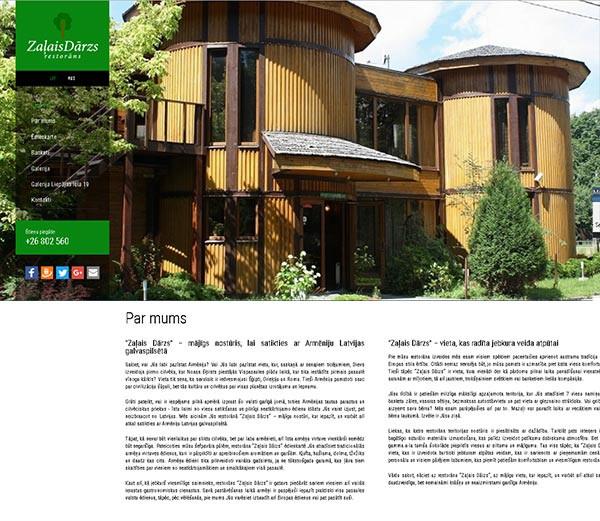 Zaļais Dārzs No2 webpage