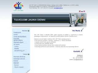 VIP Tulks SIA webpage