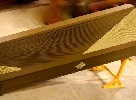 coffin draped