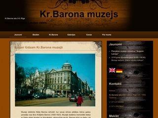 Krišjāņa Barona muzejs Mājaslapa