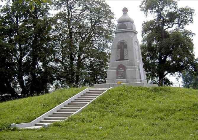 Piemineklis krievu kareivjiem Lucavsalā Rīgā