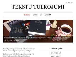 Ilze Skromule, tulks, pašnodarbināta persona webpage
