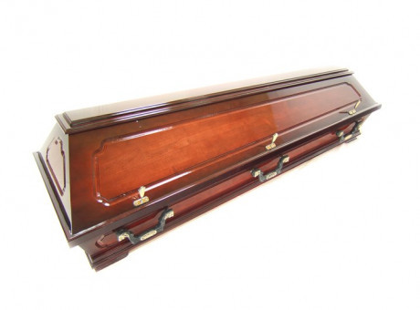 Dark brown sarcophagus- casket