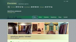 LĒTĀKAIS apbedīšanas birojs, KORONER SIA webpage