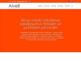 Alinas Ikaunieces tulkošanas birojs Alive8 webpage
