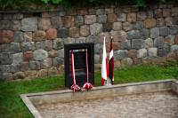 Leonam Plāteram veltīta piemiņas plāksne Daugavpils cietoksnī