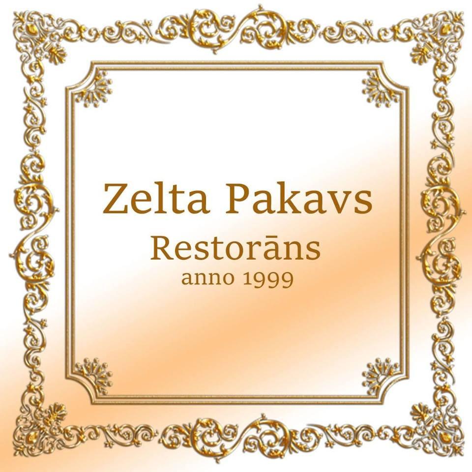 Zelta Pakavs, restorāns Логотип