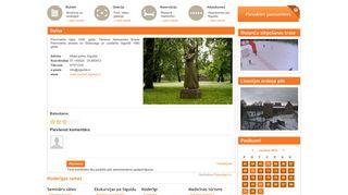 Daina, Sigulda webpage