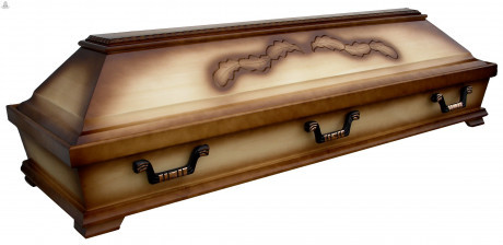 coffin with engraving
