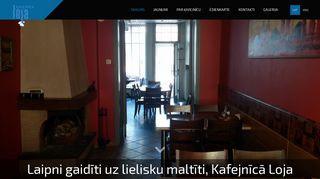 Kafejnīca Loja webpage