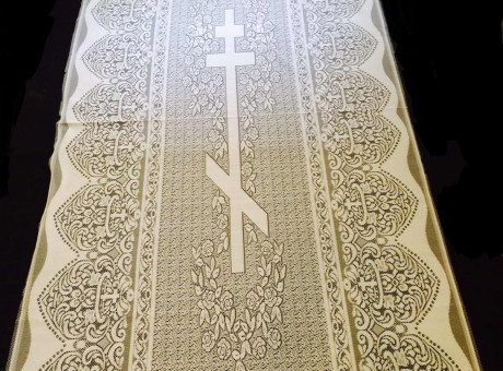 Shroud with an Orthodox cross