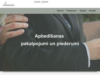 Likteņsvece A.-U.-G. SIA webpage