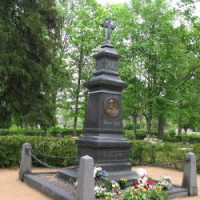 Jāņa Cimzes piemineklis un kapi